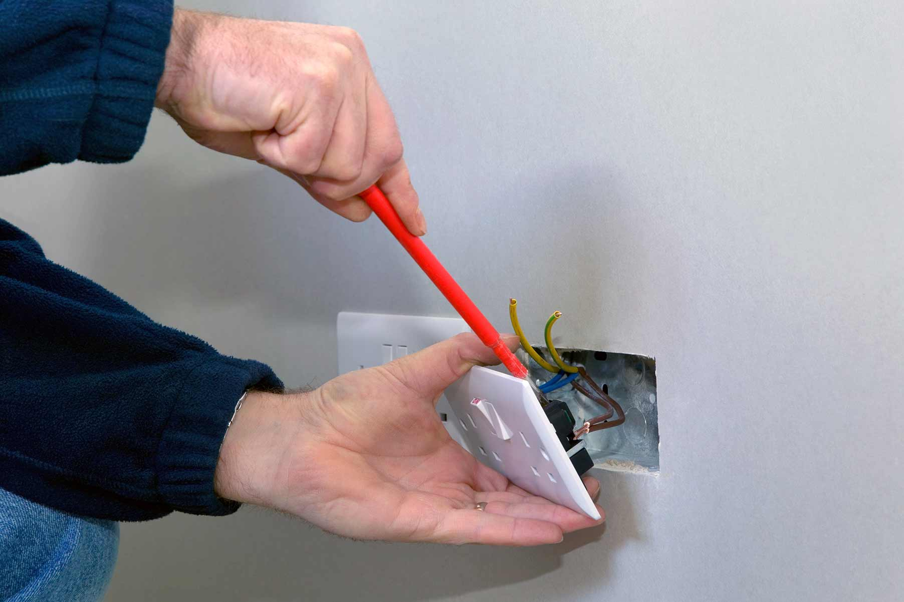 Our electricians can install plug sockets for domestic and commercial proeprties in Belsize Park and the local area.